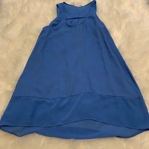 Lush blue tunic top size small